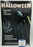 NICK CASTLE HALLOWEEN SIGNED 11x17 PHOTO POSTER MICHAEL MYERS A BECKETT BAS COA