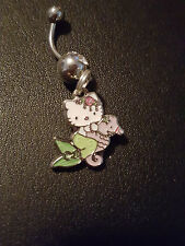Hello Kitty Mermaid  Sea Horse very dainty Belly Ring Navel Ring 14G S.S.
