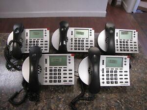 Lot of (5) Shoretel 230 IP Phone Silver IP Business Office Phones