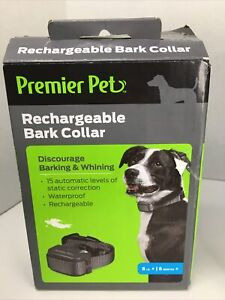 NEW Premier Pet Rechargeable Bark Collar 8LB + / 6MO +, Complete~new Open Box~