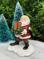 Miniature Dollhouse FAIRY GARDEN ~ Santa Claus with CHRISTMAS Presents Figurine