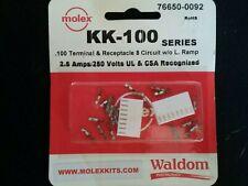 Molex//Waldom 76650-0092  8 Circuit  KK 100   2.5 Amps 250 VAC  22-30 AWG