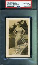 Carole Landis PSA DNA Coa Hand Signed 1940`s Original Photo Autograph
