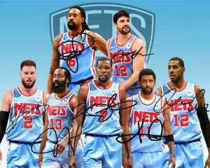 NBA Brooklyn Nets Autographed Signed 8x10 Photo (Durant, James) -  REPRINT