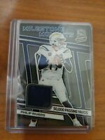 2019 Panini Spectra Milestone Moments Chargers Philip Rivers relic 22/99