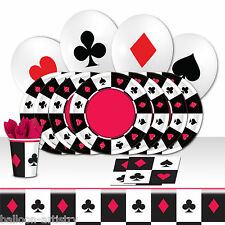 Casino Bets Playing Cards Night Birthday Complete Party Balloon Kit Pack For 8
