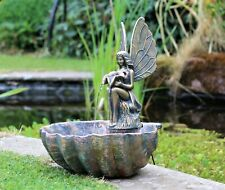 Garden Ornament Fountain Water Feature Fairy Angel LED Statues Decor
