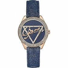 GUESS W0456L6 Women's Iconic Blue Denim Watch 3 Years