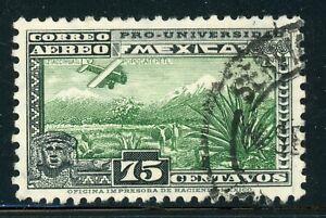 MEXICO Used Air Post Selections: Scott #C57 75c PRO-UNIVERSIDAD CV$25+