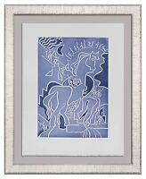 "Andre MASSON L-25x19in ETCHING Hand SIGNED* & Numb ""Trojan Horse"" ++Custom FRAME"