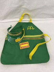 VTG McDonalds Fisher Price Drive Thru Apron/Visor/Name Tag Excellent Condition