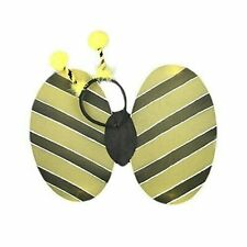 BUMBLE BEE WINGS & HEADBAND FANCY DRESS HEN NIGHTS SCHOOL FUN RUNS GIRLS LADIES