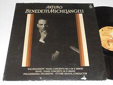 ARTURO BENEDETTI MICHELANGELI VG++ Ravel Rachmaninoff Gracis Angel S-35567