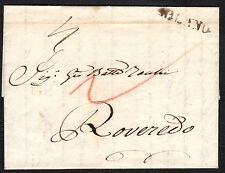 PREFILATELICA LOMBARDO VENETO 1819 da Milano per Rovereto