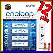 12 BATTERIE RICARICABILI PILE MINISTILO SANYO ENELOOP AAA 750mAh Pila batteria