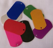 Military Engraved ID DOG Tag ENGRAVED variety of colors