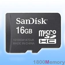 GENUINE SanDisk 16GB MicroSDHC 16G Micro SDHC SD MicroSD Secure Digital Memory