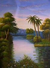 """BEAUTIFUL HAND-PAINTED CANVAS OIL PAINTING 36"""" x 48"""""""