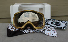 NIB OAKLEY ELEVATE MARIE FRANCE ROY SIGNATURE SERIES GOGGLES gold iridium $160