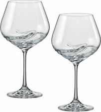 Turbolenza 570ml CRISTALLO Bicchieri da Vino-Set di due-BOHEMIA CRYSTAL