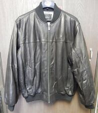 Sean John Black Leather Jacket Size XX-Large G-III Apparel G3