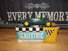 vintage scalextric C63 LOTUS REAR ENGINE 1961 SUPERB BOXED TESTED ORIGINAL