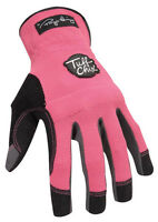 Ironclad  Pink  Women's  Medium  Synthetic Leather  Work  Gloves