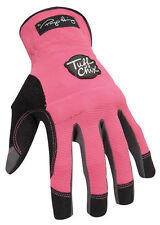 Ironclad Pink Womens Medium Synthetic Leather Work Gloves