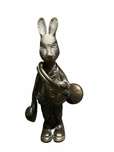 "Vintage Huntsman Hare Bronze Rabbit / Bunny figure  8.5"" tall"