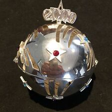 2000 Lenox  Silver Plate Millennium Christmas Gift Rare Ornament Ball   L11
