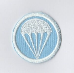 """WWII - Cap Patch INF. PARATROOP """"Light Blue Twill"""" (Reproduction)"""