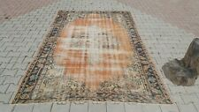 Area Rug,6x9ft Turkish Rug,Anatolian Rug ,Bohemian,Vintage rug,Oushak Rug,orange