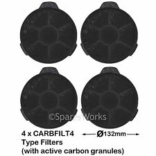 4 Filtri Carbone Carbonio Sfiato per Cooke & Lewis Cappa 02859394 CARBFILT 4