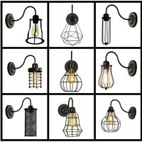 Industrial Retro Indoor Lighting Wall Light Sconce Lamp Fitting Various Wirecage