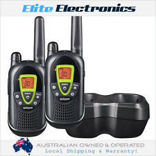 ORICOM PMR1250 80-CHANNEL 1W HANDHELD UHF TWO WAY COMPACT RADIO WALKIE TWIN PACK