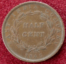 Straits Settlements Half Cent 1845 East India Company (B0903)
