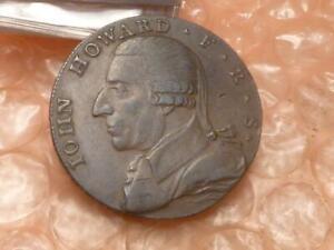 1792 John Howard Birmingham Colonial Halfpenny Trade Token Letter Edge #K