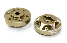 C26665GUN Alloy Drive Pin-to-6 Bolt Wheel Hub 9mm Thick for 1/10 Axial Crawler