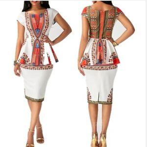 African Dashiki Two piece Dress