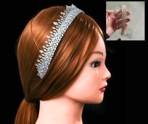 Women Headband with Crystal Cubic Zirconia for Wedding Bride Prom Hair Jewelry