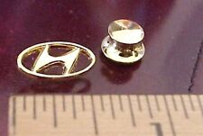 HYUNDAI AUTOMOBILE AUTO CAR LOGO GOLD TONE METAL LAPEL PIN