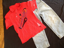 Jeans Outfit Sonoma Jeans Red Rocket Ship Shirt 4-5 Boys Back to School Camp