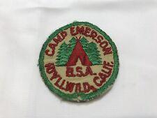 BSA Camp Emerson Vintage Pocket Patch Boy Scouts Tahquitz Lodge Idyllwild worn