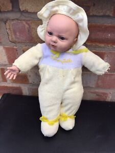 "VINTAGE  Baby Doll  Tummy Talks 14"" Soft Body by UNEEDA Good Condition"