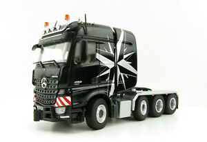 NZG 9371/50 Mercedes Benz Actros Big Space SLT 8x4 Heavy Haulage Black - 1:50