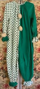 Vintage Clown Suit Costume Adult S-XL with Collar Original! A clown wig too.