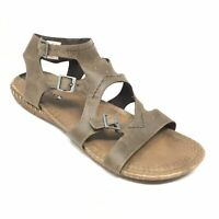 Women's Merrell Whisper Strappy Sandals Shoes Size 10 M Taupe Leather Casual AI5