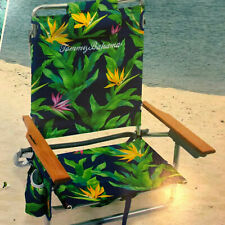 Tommy Bahama Backpack Beach Chair Insulated Beverage Holder Bottle Opener NEW