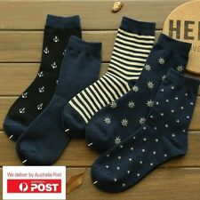 5 pairs Quality Mens Happy Cotton Socks Sox Stance Skate Casual Formal AU