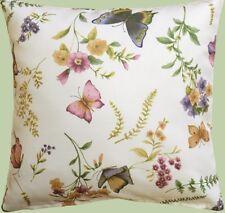 Kissenhülle, Kissenbezug, Dekokissen, Textildruck Schmetterling  40x40 cm, Creme